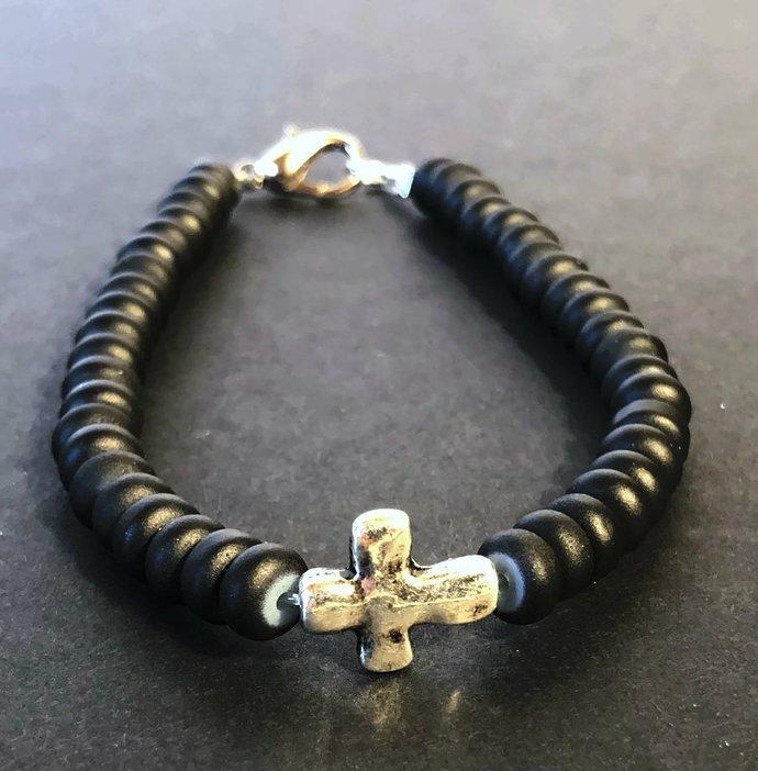 Mens cross bracelet| Cross bracelet| Christian bracelet