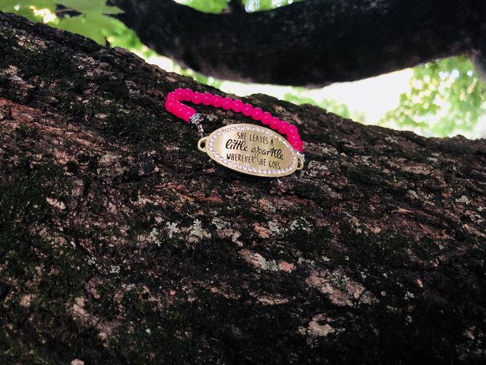 Sparkle bracelet| she leaves a little sparkle wherever she goes bracelet