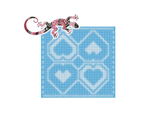 Hearts Pillow Locking Filet Crochet Pattern
