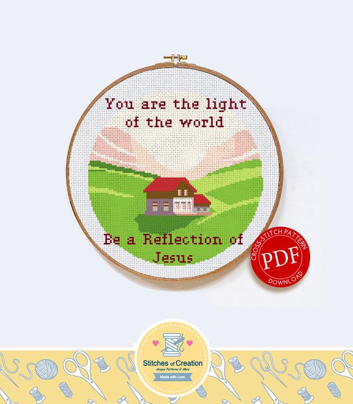 Light of the World | Digital Download | Cross Stitch Pattern  |