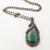 Copper and Malachite Green Pendant Necklace