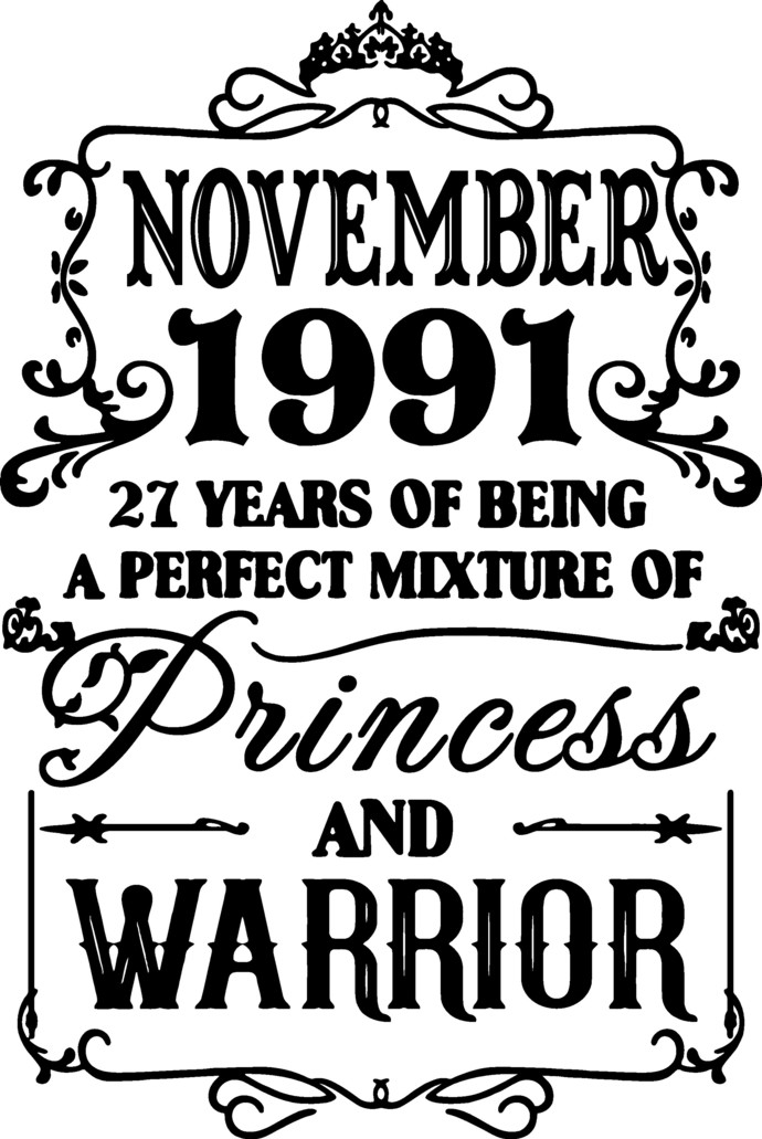 Novermber 1991 years of being a perfect mixture of Princess and Warrior,