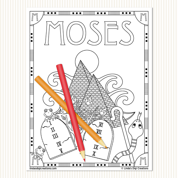 Men Of The Bible Set 1_Printable Coloring Pages