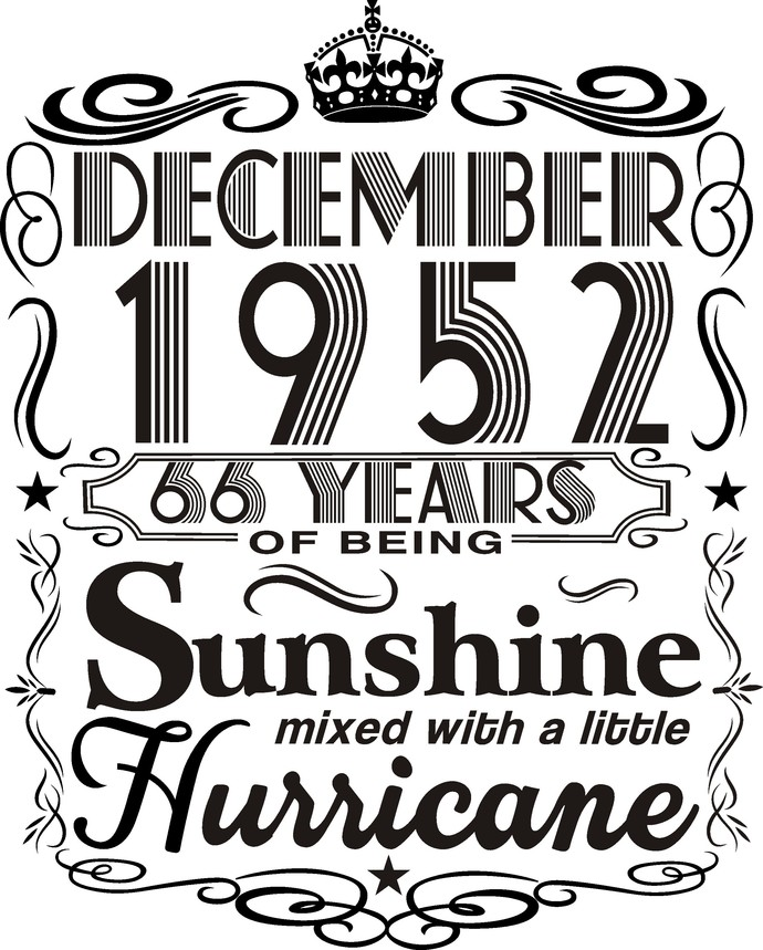 December 1952 years of being Sunshine mixed with a little hurricane,  Princess