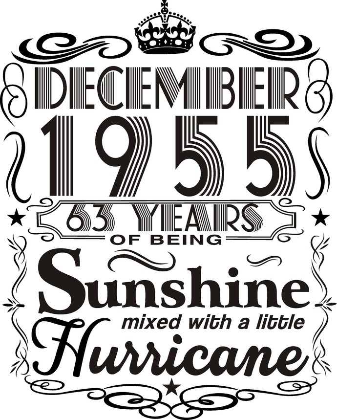 December 1955 years of being Sunshine mixed with a little hurricane,  Princess