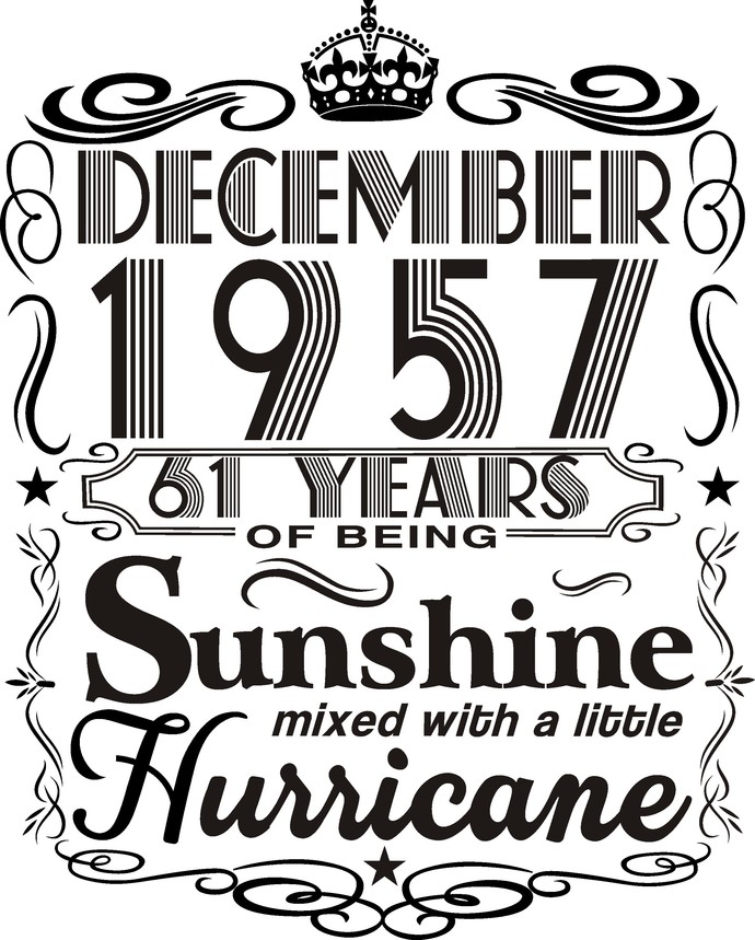 December 1957 years of being Sunshine mixed with a little hurricane,  Princess