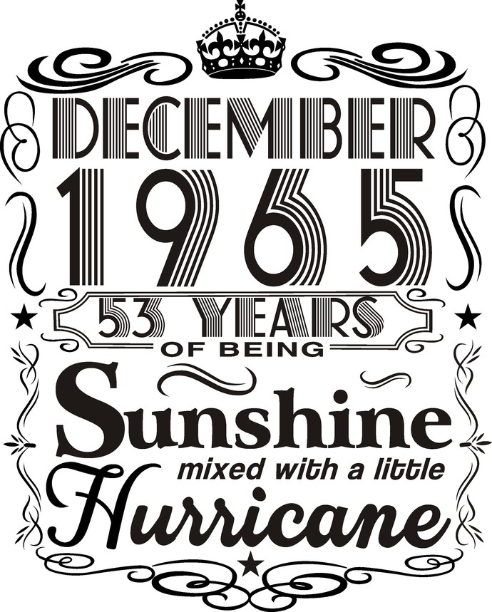 December 1965 years of being Sunshine mixed with a little hurricane,  Princess