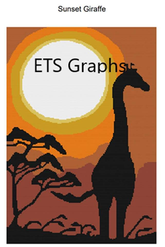 Sunset Giraffe Pattern - SC - 180x260 - Graph w/Written