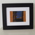 An Original Small Abstract Artwork in Orange, Black and Blue Ready to Ship