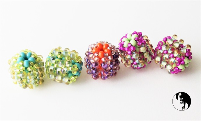 Bubbly Beaded Bead Bead Weaving Tutorial by DKD