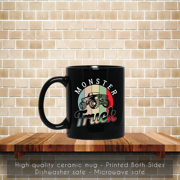 Monster Truck, Retro 80s Coffee Mug, Tea Mug, Coffee Mug, Monster Truck Tea Mug,