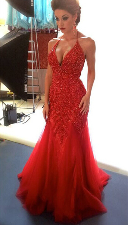 Sexy Red Prom Dress ,Long Homecoming Dress, Back to School Party Gown