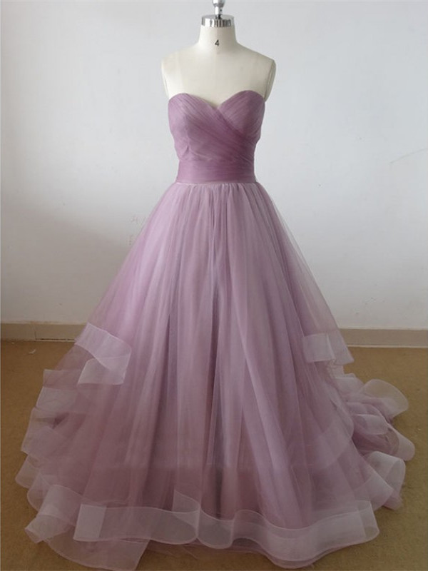 Dusty Rose Prom Dress A-line,Long Homecoming Dress, Back to Schoold Party Gown