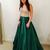 Green Prom Dress,Long Homecoming Dress, Back to Schoold Party Gown