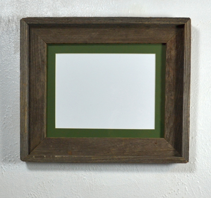 8x6 green matted picture frame 8x10 without mat reclaimed wood with glass