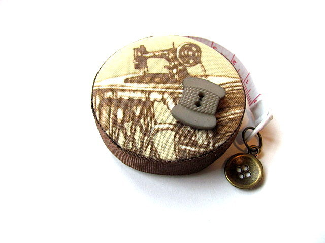 Measuring Tape Antique Sewing Machines RetractableTape Measure