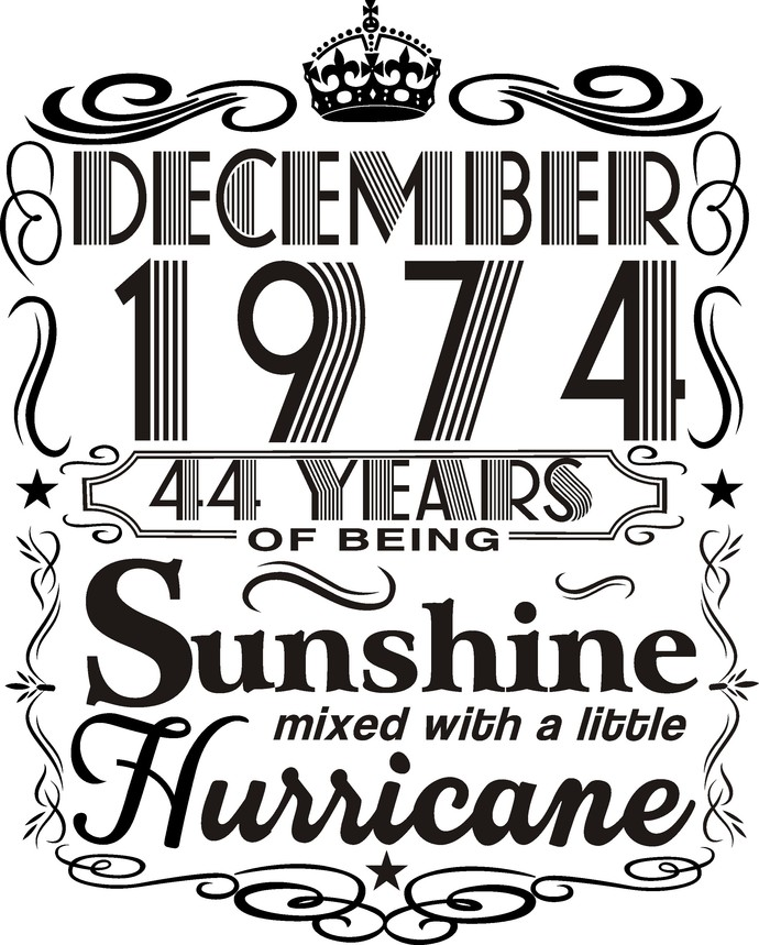 December 1974 years of being Sunshine mixed with a little hurricane,  Princess
