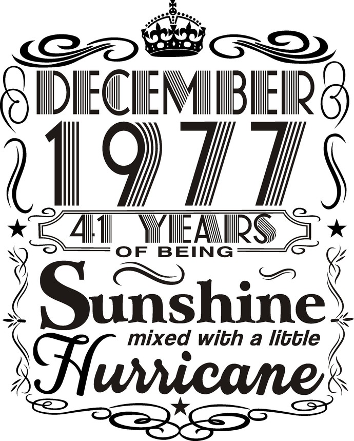 December 1977 years of being Sunshine mixed with a little hurricane,  Princess