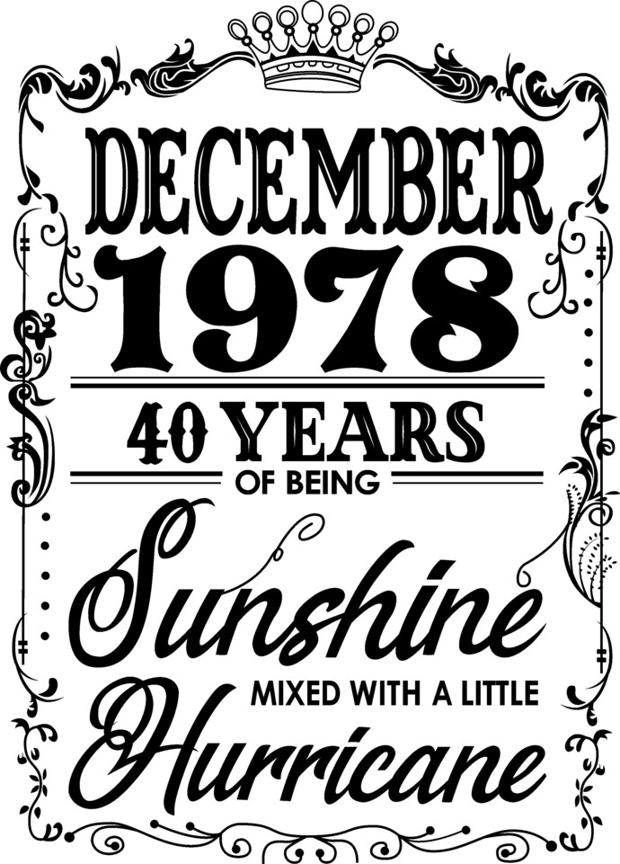 December 1978 years of being Sunshine mixed with a little hurricane,  Princess