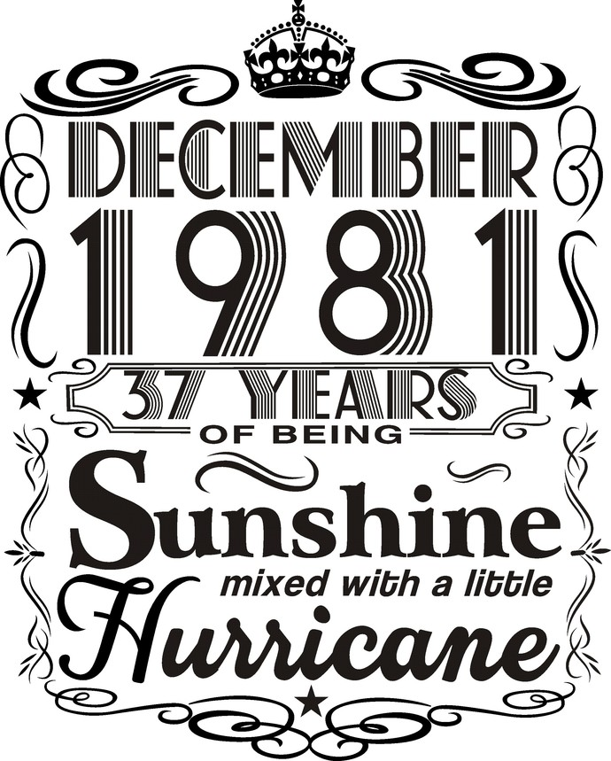 December 1981 years of being Sunshine mixed with a little hurricane,  Princess