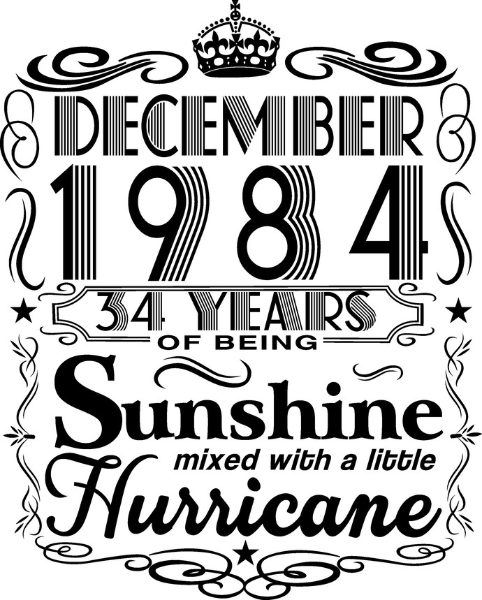 December 1984 years of being Sunshine mixed with a little hurricane,  Princess