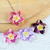Swarovski Crystal Necklace; Flower Swarovski Pendant Necklace; Rose; Violet;