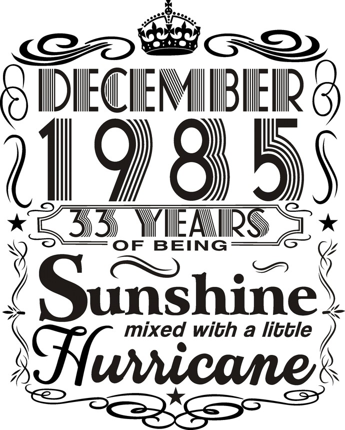 December 1985 years of being Sunshine mixed with a little hurricane,  Princess