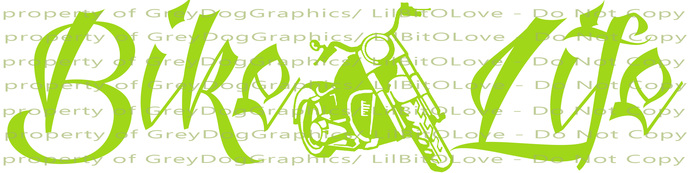 Bike Life Biker Motorcycle Vinyl Decal Bike Sticker Hog Chopper Harley