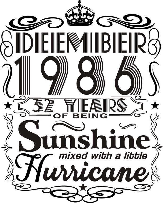 December 1986 years of being Sunshine mixed with a little hurricane,  Princess