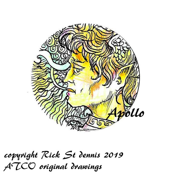 """ATCO Original Art """"coin Style"""" 2019 Apollo"""