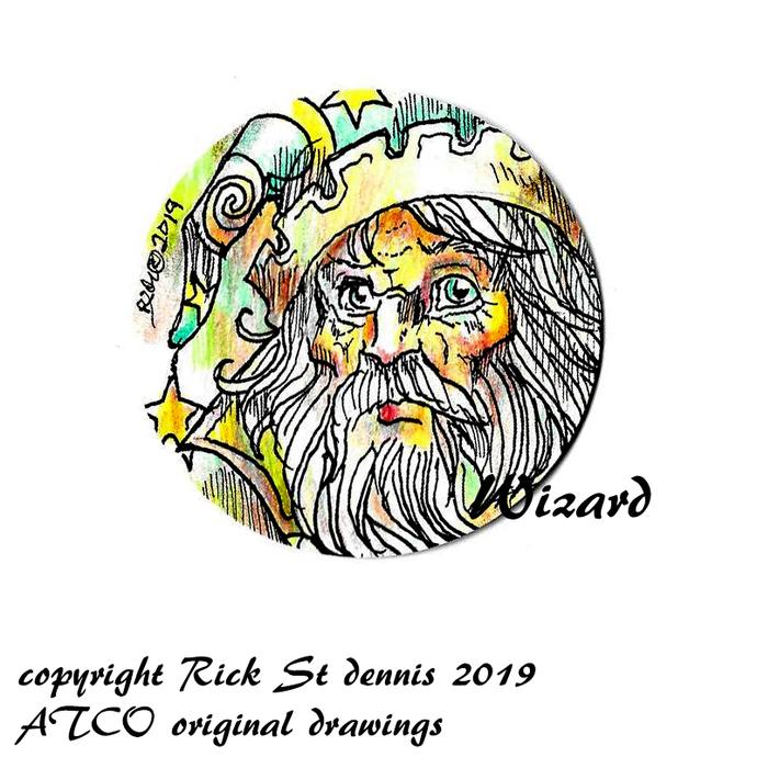 """ATCO Original Art """"coin Style"""" 2019 Wizard"""