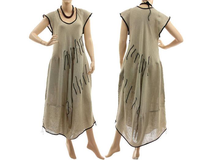 3f13563b9c7 Boho linen maxi dress