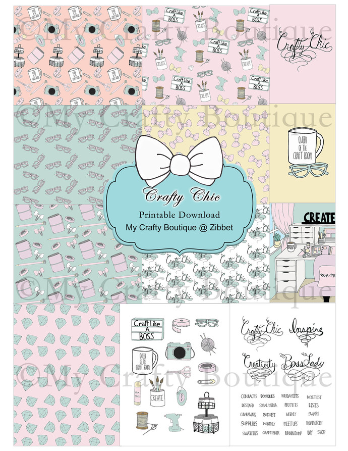 """""""Crafty Chic"""" Printable Download"""
