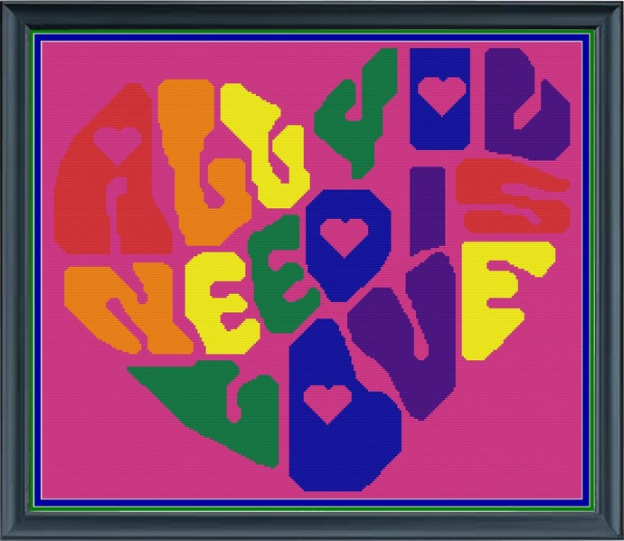 All You Need is Love 260 x 220 SC/HDC