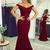 Sexy Mermaid Burgundy Prom Dress,Long Homecoming Dress, Back to Schoold Party