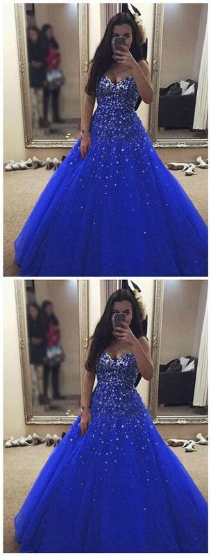 Beautiful Prom Dresses,New Arrival Ball Gown Evening Dress,Open Back Tulle