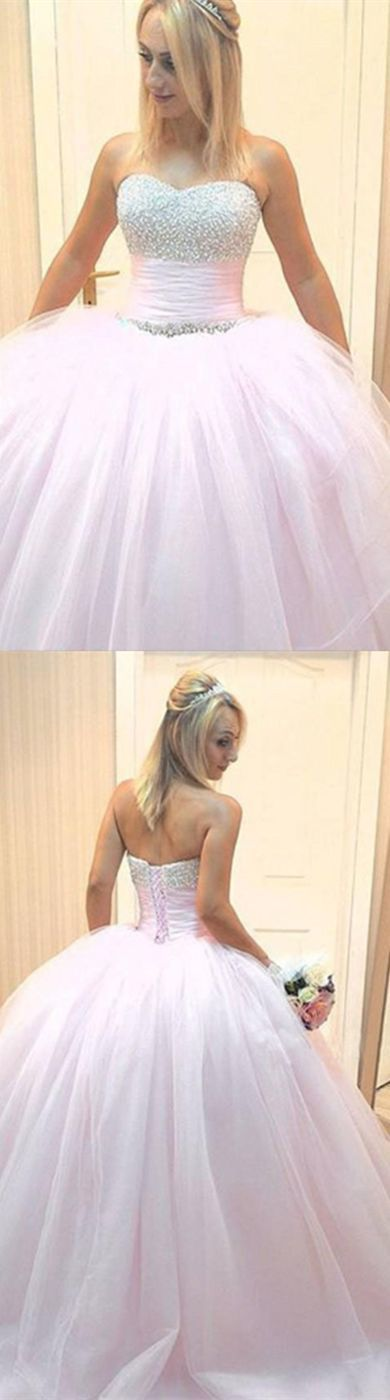 Ball Gown Sweetheart Beading Prom Dress,Long Prom Dresses,Prom Dresses