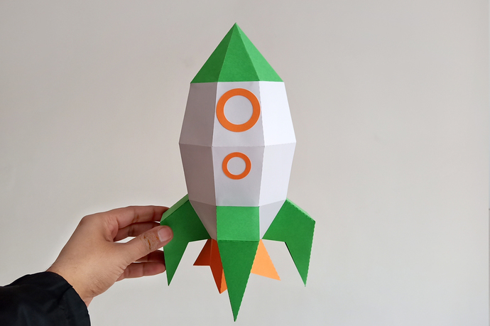 How to make origami rocket | 459x690