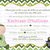 Baby Shower St. Patrick's Day Printable Invitation, Boy, Girl, Pot of Gold,