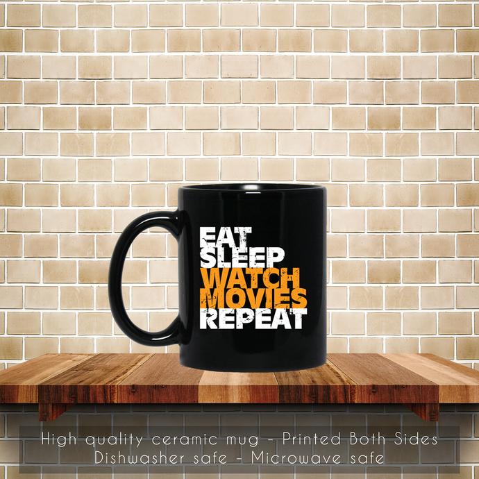Movie Lover, Movie Gift Coffee Mug, Tea Mug, Coffee Mug, Movie Lover Mug, Eat
