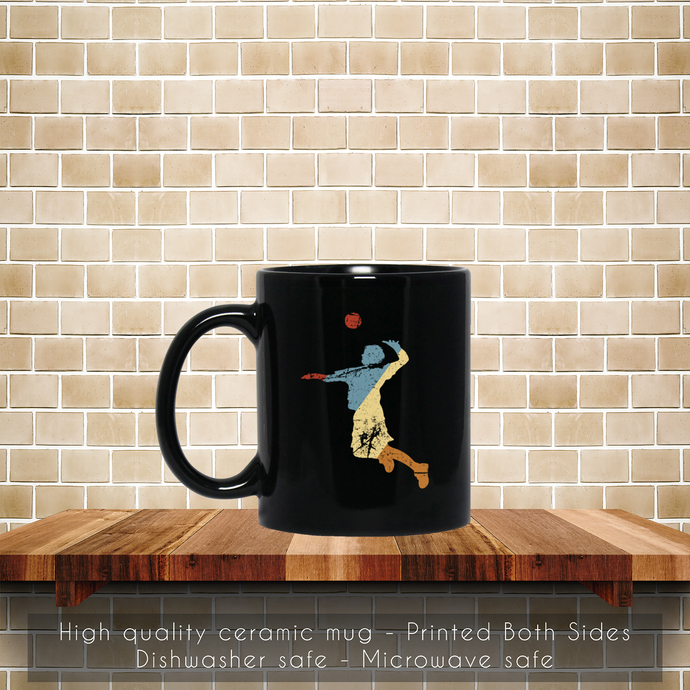 Retro Volleyball, Volleyball Player Coffee Mug, Tea Mug, Volleyball Player Mug,