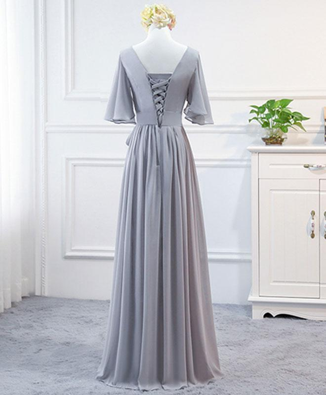 Elegant Chiffon A--line Bridesmaid Dresses 2019, Handmade Evening Party Dress