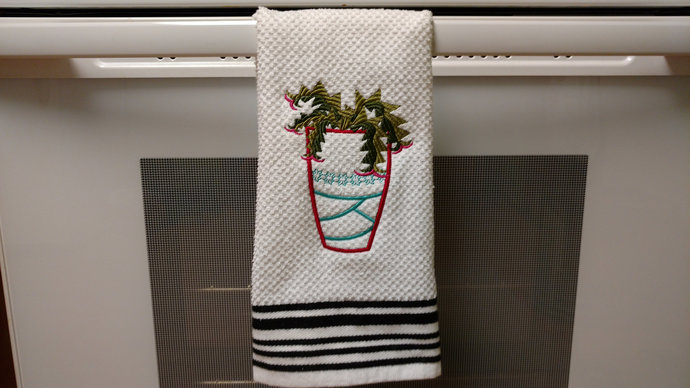 Cactus Dish Towel, Housewarming Gift, Succulent Kitchen Towel, Cactus Lovers