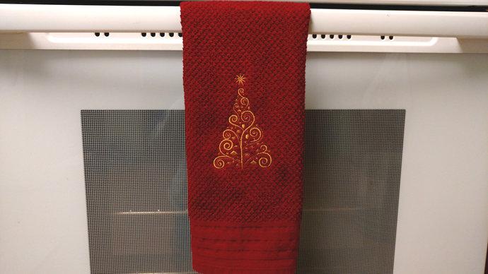 Christmas Dish Towels Teachers Gift, Hostess Gift, Secret Santa Gift, Kitchen