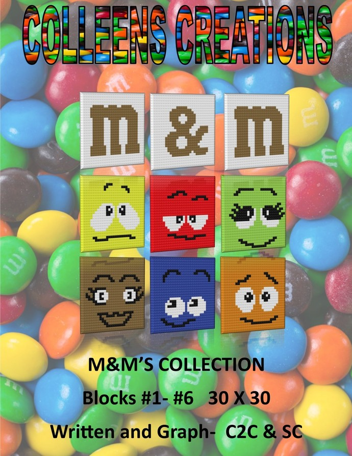 M&M'S C2C Collection Crochet Written and Graph Design
