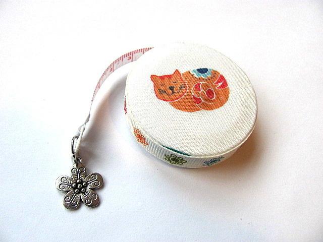 Tape Measure Orange Cats Retractable Measuring Tape
