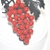 Black Enamel Red Grape Brooch