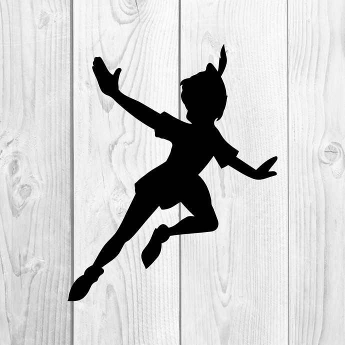 Peter Pan Silhouette Graphics SVG Dxf EPS Png Cdr Ai Pdf Vector Art Clipart  instant download Digital Cut Print File