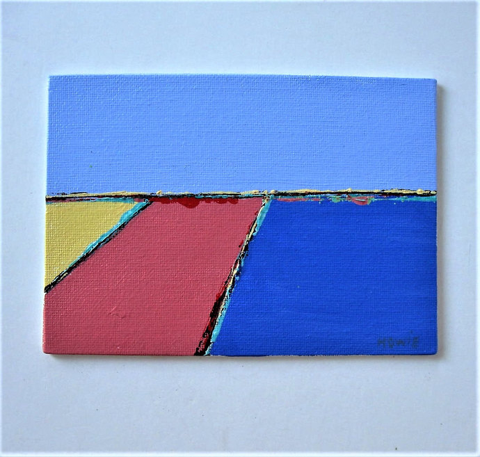 Original abstract landscape painting on canvas, Contemporary beach art, Fine art
