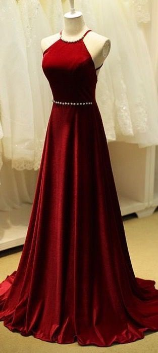 new evening dress,long ball gowns,red chiffon prom dress ,halter neck party